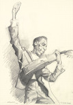 Kruger Fine Art Kruger Fine Art T-Bone Walker (Original Drawing)