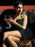 Fabian Perez Fabian Perez Tess on Leather Couch