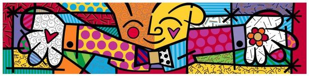 Romero Britto Art Romero Britto Art The Hug