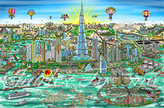 Charles Fazzino Art Charles Fazzino Art The Wonders of Dubai (DX)