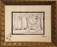 Fabio Napoleoni Fabio Napoleoni The Thought is Escaping Me (Original Sketch - Framed)