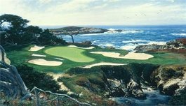 Larry Dyke Larry Dyke The 15th at Cypress Point