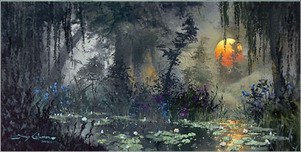 Artist James Coleman Artist James Coleman Light Through the Warm Mist (20 x 40)