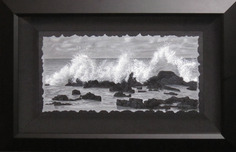 Phillip Anthony Phillip Anthony Untitled (Waves Crashing On Rocks) (Original) (Framed)