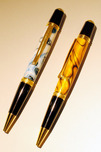 Allywood Creations Allywood Creations Wall Street Pen - Acrylic with 24K Gold & Black