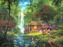 Artist James Coleman Artist James Coleman Warm Aloha (18 x 24) Disney