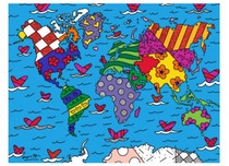 Romero Britto Art Romero Britto Art We Are the World