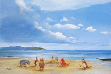 Peter Ellenshaw Peter Ellenshaw Pooh and Friends at the Seaside