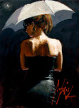 Fabian Perez Fabian Perez Woman With White Umbrella III