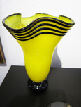 Donald Carlson Donald Carlson Yellow Fluted Vase