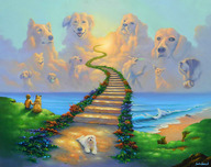 Jim Warren Fine Art Jim Warren Fine Art All Dogs Go to Heaven #2