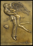 Michael Parkes Art Michael Parkes Art Angel Affair (Bas-relief gold or silver)