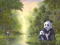 Robert Bissell Art Robert Bissell Art The Bamboo River - (AP) Hand-Enhanced