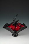 Donald Carlson Donald Carlson Black Footed Bowl with 7 Red Cherries