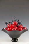 Donald Carlson Donald Carlson Black Footed Bowl with 20 Cherries