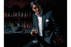 Fabian Perez Fabian Perez Black Suit Red Wine