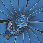 Michael Godard Art & Prints Michael Godard Art & Prints Blue Butterfly (18 x 18)