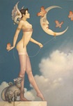 Michael Parkes Art Michael Parkes Art Butterfly Moon