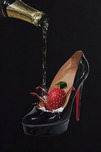 Michael Godard Art & Prints Michael Godard Art & Prints Champagne Shoe (Metal)