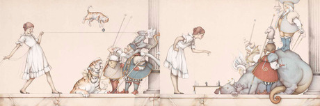 Michael Parkes Art Michael Parkes Art Childs Play Set: The Chess Game & The String Game