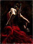 Fabian Perez Fabian Perez Dancer in Red