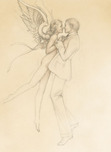 Michael Parkes Art Michael Parkes Art Dancing with an Angel (Drawing)
