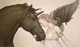 Michael Parkes Art Michael Parkes Art Dark Unicorn