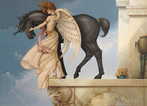 Michael Parkes Art Michael Parkes Art Dark Unicorn (Large)