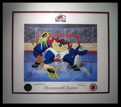 50% Off Schimmel, Bylerey & More 50% Off Schimmel, Bylerey & More Devil of a Save - Colorado Avalanche (framed)