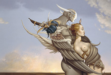 Michael Parkes Art Michael Parkes Art Diamond Warrior