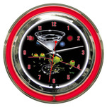 Michael Godard Michael Godard Dirty Martini- Neon Clock (Large)