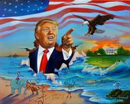 Jim Warren Fine Art Jim Warren Fine Art Donald Trump's Very Grand Entrance
