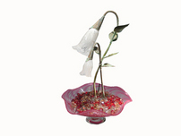 Tranquility Glass Fountains Tranquility Glass Fountains Double Flower Fountain