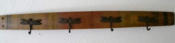 Brad Evans Brad Evans Wine Barrel Stave Rack - Dragonfly Hook Design