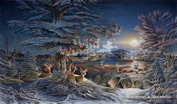 Terry Redlin Terry Redlin Evening on the Ice