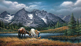 Terry Redlin Terry Redlin For Purple Mountain Majesties