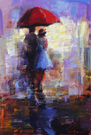 Michael Flohr Art Michael Flohr Art The Red Umbrella