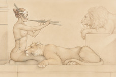Michael Parkes Art Michael Parkes Art Lion's Song