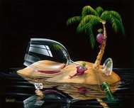 Michael Godard Fine Art Michael Godard Fine Art Lost in Paradise (17.5 x 22)
