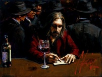 Fabian Perez Fabian Perez Man at the Bar II