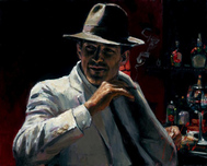 Fabian Perez Fabian Perez Man at the Red Bar