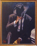 Fabian Perez Fabian Perez Buenos Aires Night (Smoking Under the Light) (Framed)
