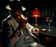 Fabian Perez Fabian Perez Man Lighting Cigarette V