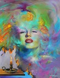 Jim Warren Fine Art Jim Warren Fine Art Marilyn Monroe - A Painted lady