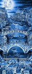 Charles Fazzino Art Charles Fazzino Art Midnight in Venice (AP) (Blue)