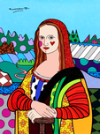 Romero Britto Art Romero Britto Art Mona Lisa