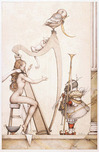 Michael Parkes Art Michael Parkes Art Moon Harp