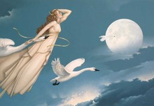 Michael Parkes Art Michael Parkes Art New Moon Full Moon