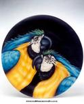 Todd Warner Todd Warner Lets Talk It Over - Blue & Gold Macaw Plate