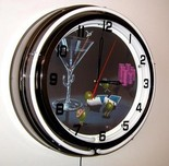 Michael Godard Art & Prints Michael Godard Art & Prints Neon Clock - Pocket Rockets
